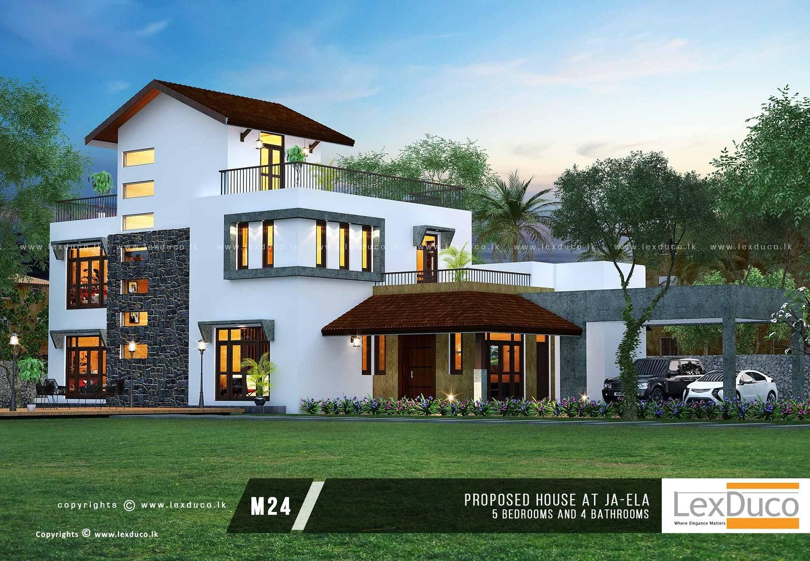 Pin By Wajira Pradeep On Modern House Designs Sri Lanka House Design House Plans Two Storey House Plans