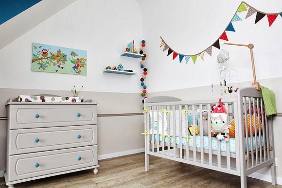 La chambre bébé de Nathan Kids rooms, Nursery and Bright colours