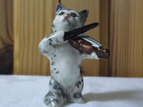 Vintage Beswick Cat – Violin Player from Cat Orchestra c1950s – Excellent Condit | eBay