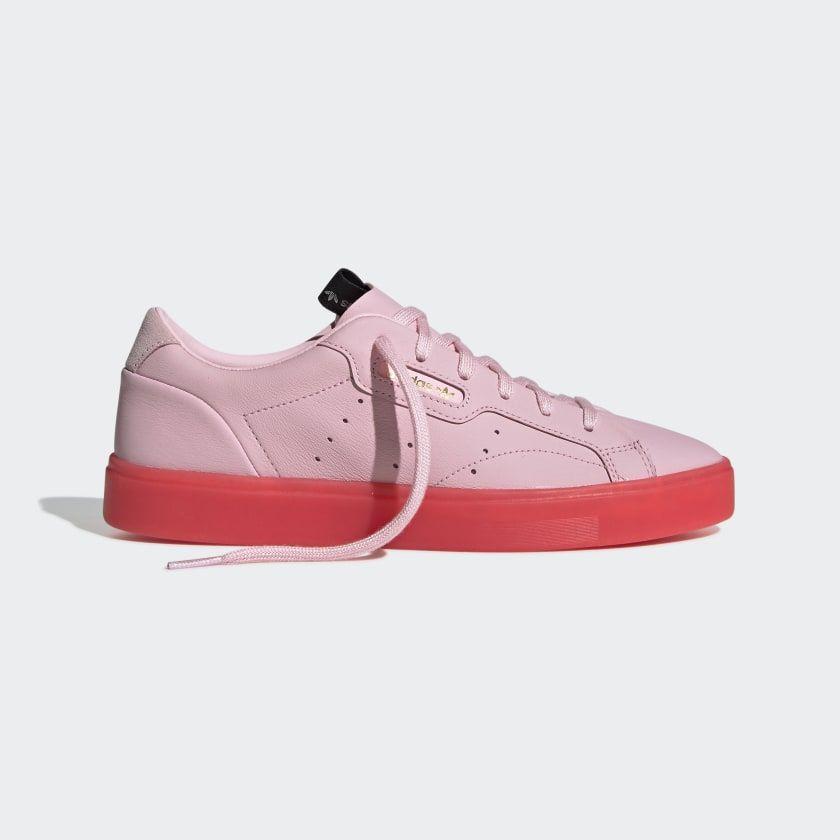 adidas Sleek Shoes Diva / Diva / Red BD7475 | Sneakers, Pink ...