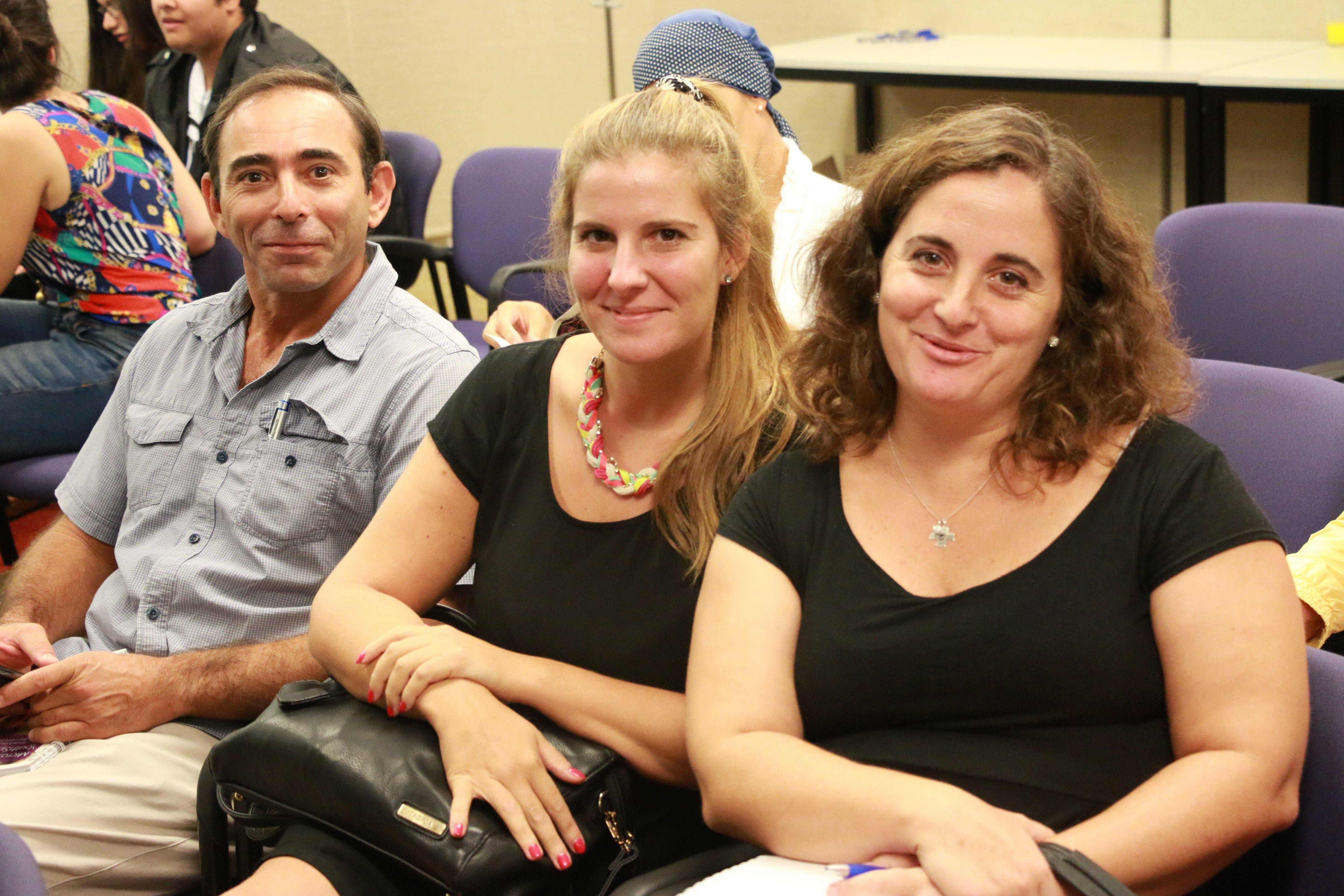 Juan Faieraizen, Pamela Landini y Lorena Cabeda, de Fundación Equidad.