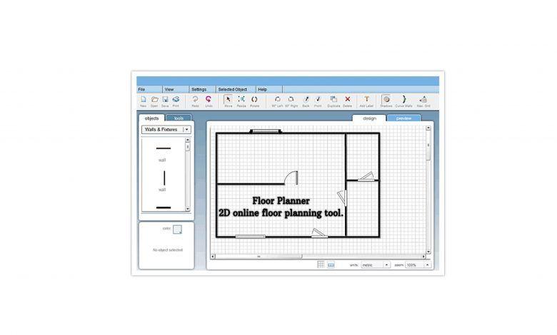Floor Planner 2D online floor planning tool