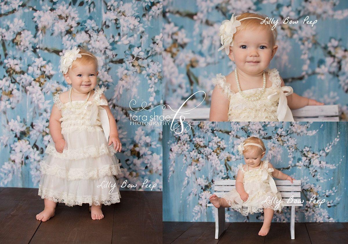 Flower Girl Dress-Baby Girl Clothes-Baby Dress -Baptism Dress-Ivory Lace Dress-Newborn- Christmas Dress-Girl Dress-Christening Dress-Wedding by LillyBowPeep on Etsy https://www.etsy.com/listing/199437712/flower-girl-dress-baby-girl-clothes-baby