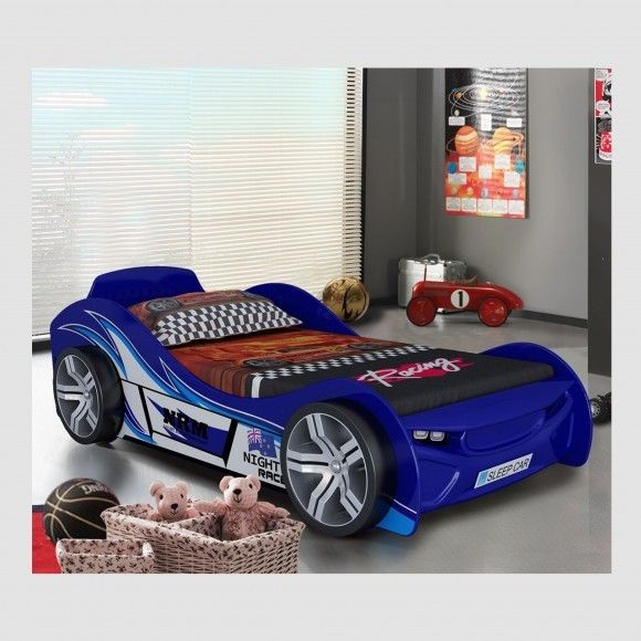 Racing Car Bed Blue Or Red Novelty Racing Cars Bed High