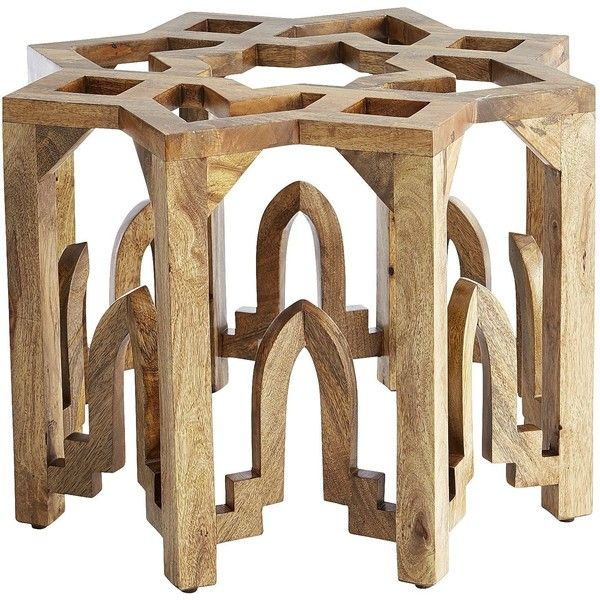 Pier 1 Imports Natural Moroccan Coffee Table Base (1.980 DKK) ❤ Liked On  Polyvore. Glass Top ...