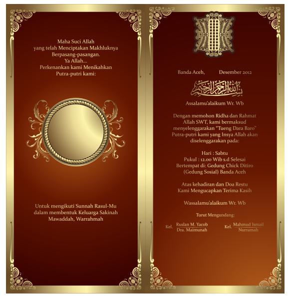 Cara Membuat Undangan Coklat Drawings Design Dan Wedding