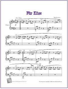 Fur Elise Beethoven Piano Sheet Music Classical Piano Sheet