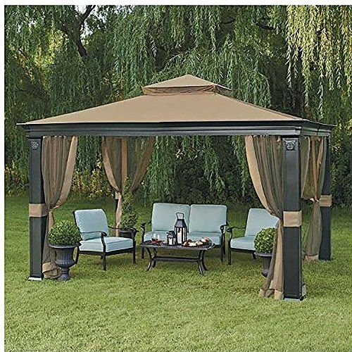 10 X 12 Fremont Patio Gazebo With Mosquito Netting Patio Gazebo Backyard Gazebo Gazebo Pergola