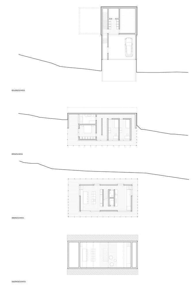 Gallery of h ller house innauer matt architekten 12 for Minimalistisches haus grundriss