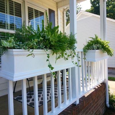 "24"" Charleston Self Watering Deck Railing Planter Over The ..."