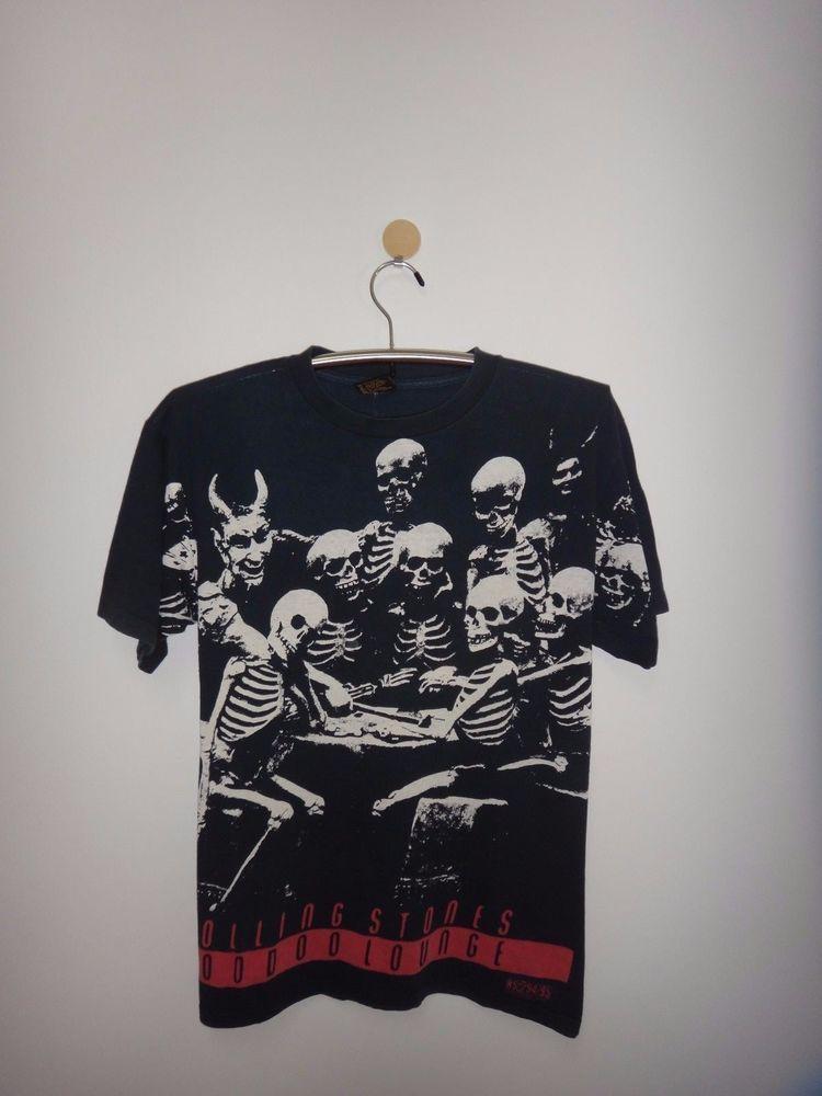 2286b2ddf261 Vintage Rolling Stones Concert Tour Voodoo Lounge 94/95 Full Print T Shirt  Rock | Clothing, Shoes & Accessories, Vintage, Men's Vintage Clothing |  eBay!