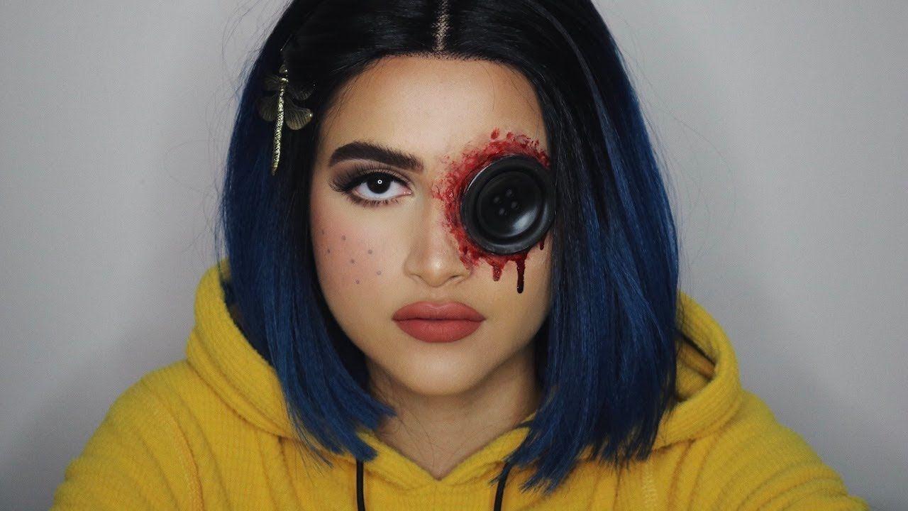 Coraline Jones Halloween Makeup Tutorial Creepy Halloween Makeup Halloween Makeup Halloween Makeup Scary