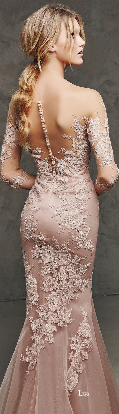 love the lace design Love this back detail  Wedding bridal gowns