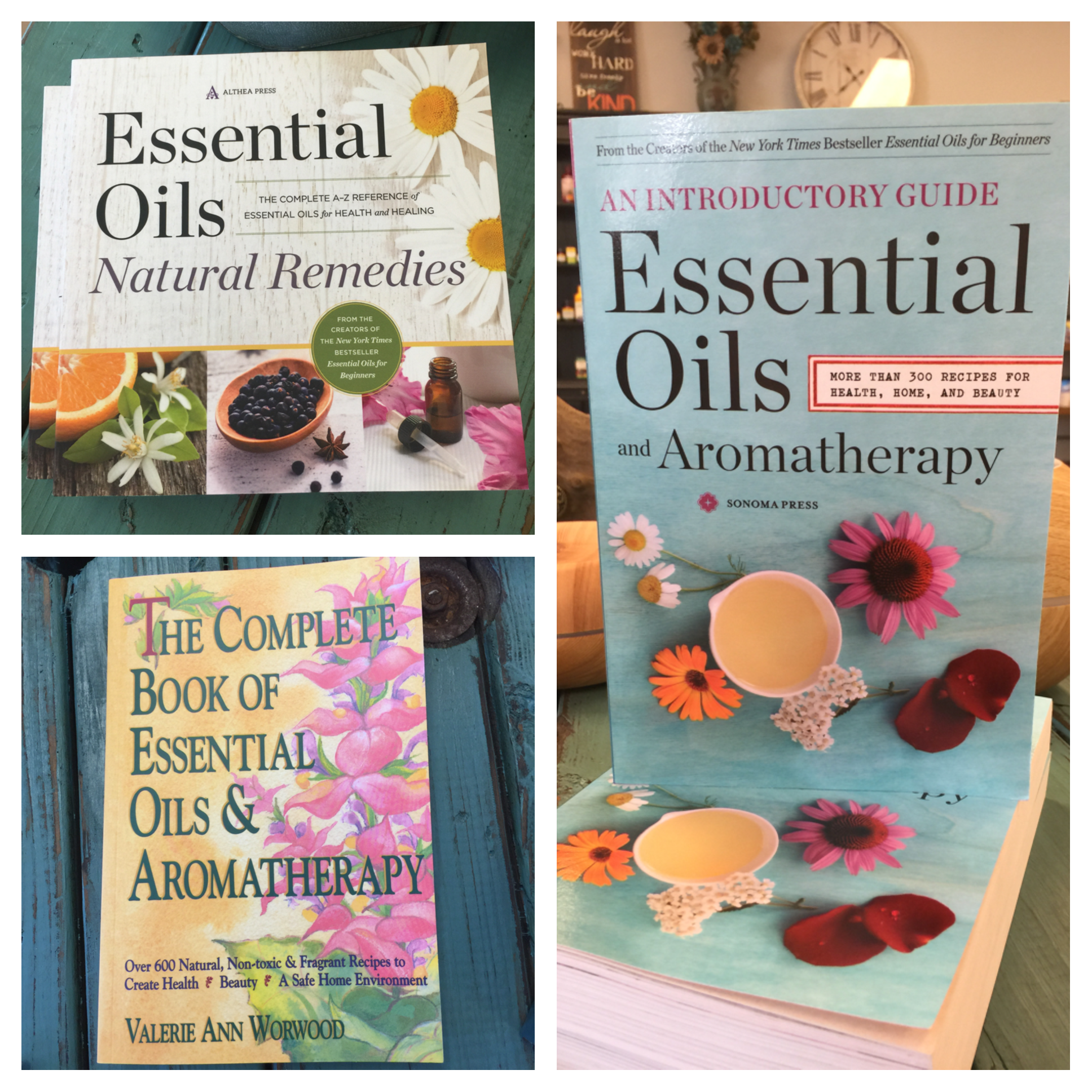 These are 3 Great essential oil books!!! Learn the best possible benefits of your essential oils or if you are a beginner this is a great first step!!! @ Tree of Life Supplements, Gifts & More  #essentialoils  treeoflifesgm@yahoo.com