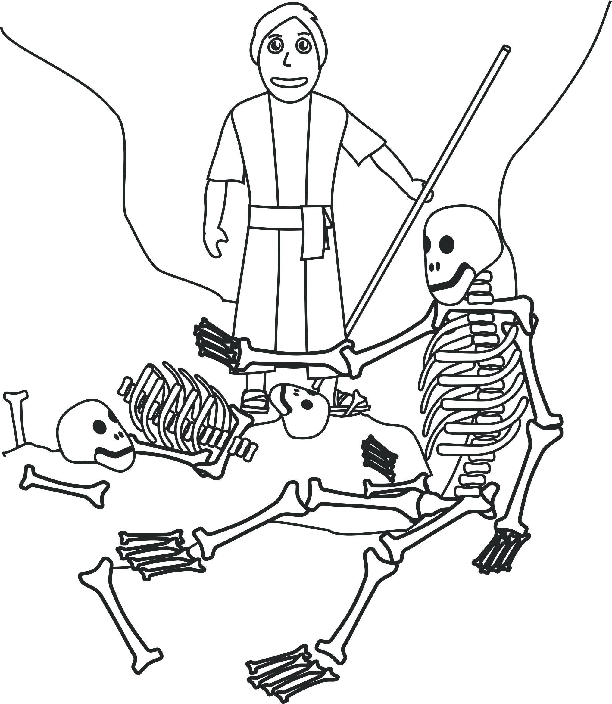 Skeleton Coloring Pages Printable Human Skeleton Coloring