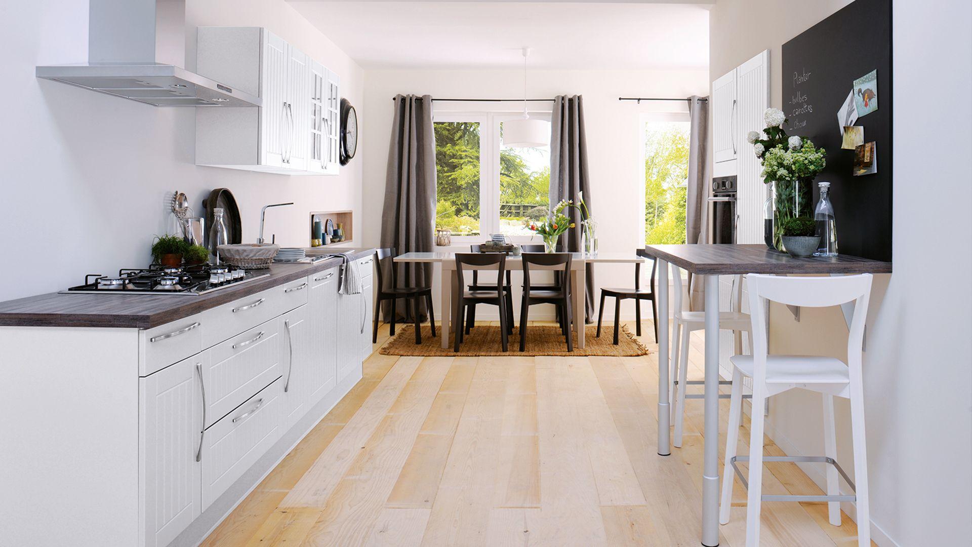 cuisine quip e matea style classique blanc cuisinella my little castle pinterest. Black Bedroom Furniture Sets. Home Design Ideas