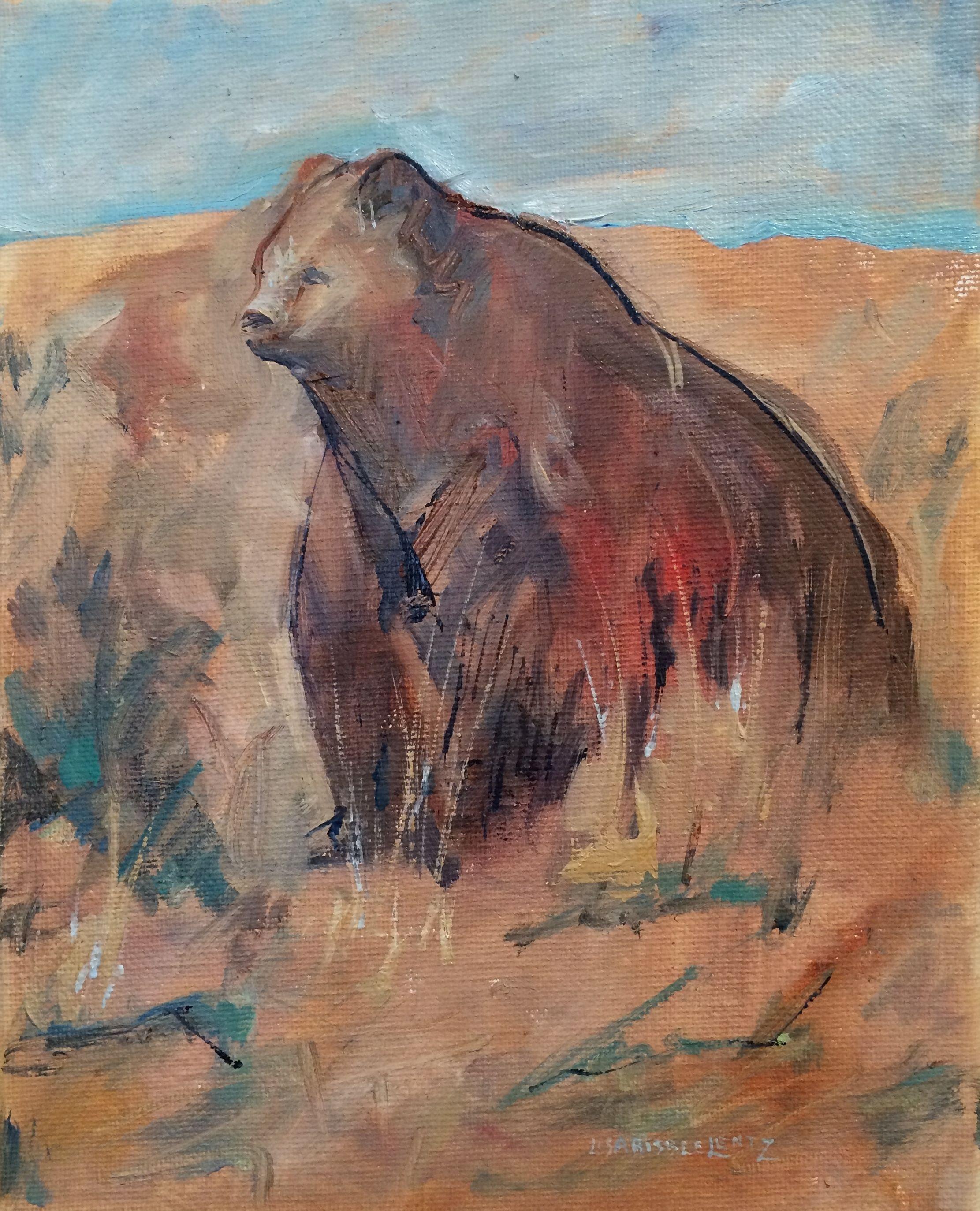 Lisa Bisbee Lentz Displays Oil Paintings Of Bears For Sale