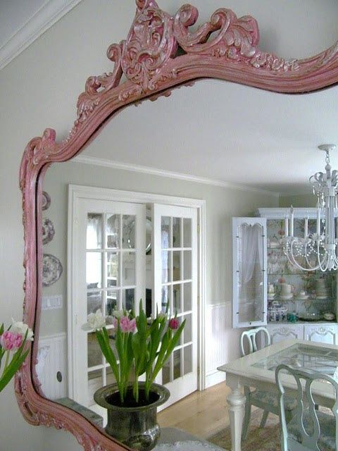 4 The Love Of Wood Homesense How I Adore Thee My New Birdcage And Painted Mirror Pink Mirror Pretty In Pink Decor