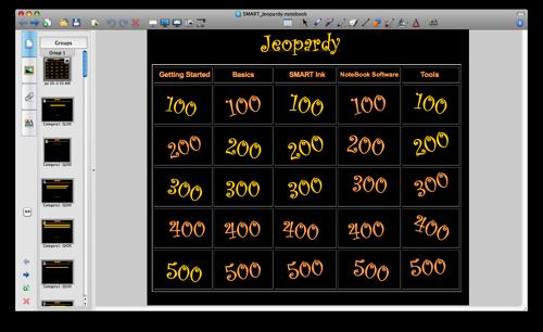 SMART Board Jeopardy Template