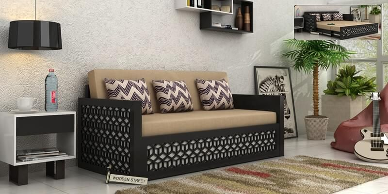 Convert very smoothly and lavish sofa to a sumptuous double bed