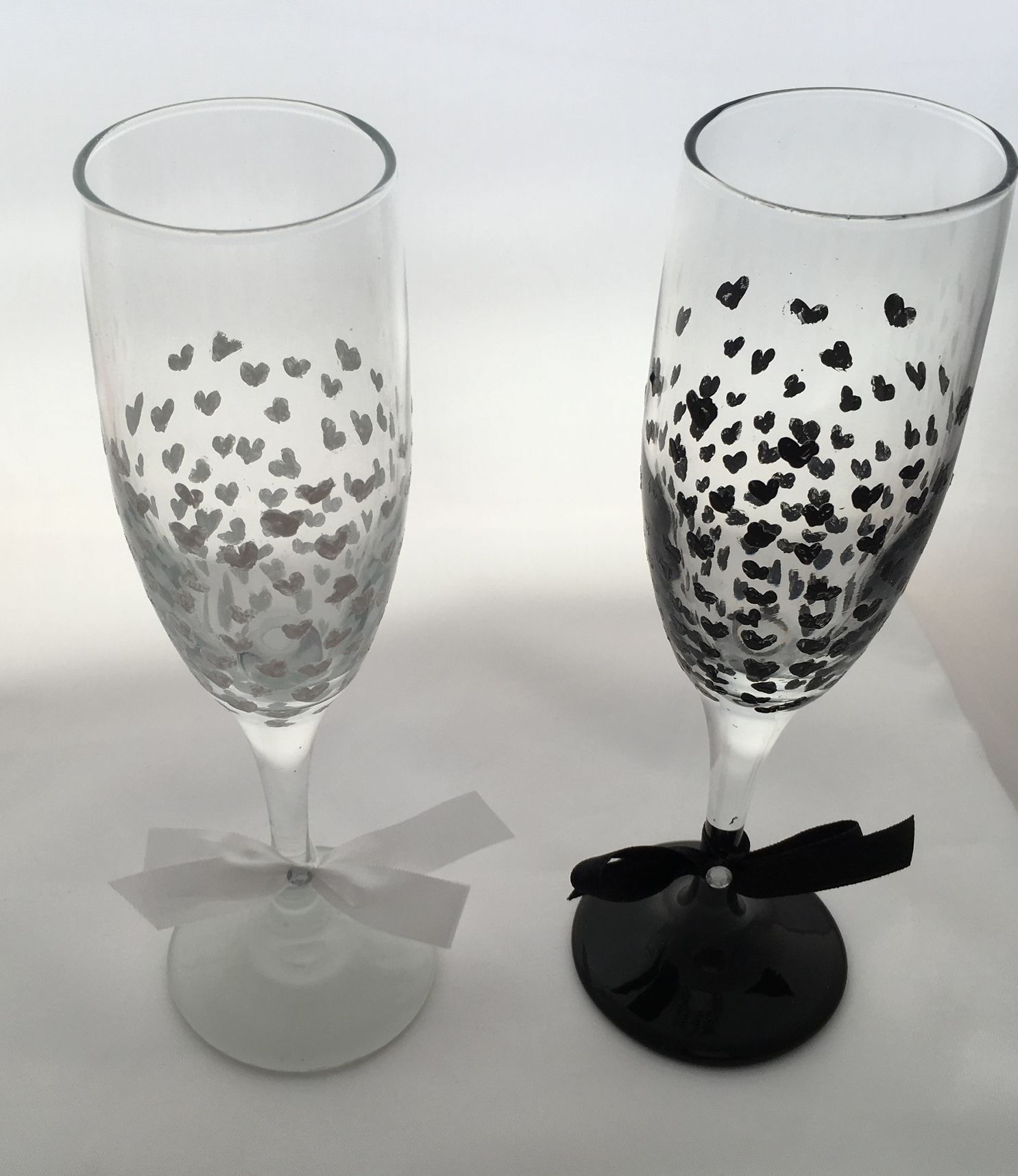 Hearts in Harmony Champagne Flutes