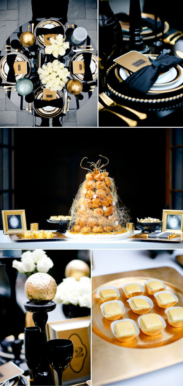 Black And Gold Wedding Theme Ideas From Favors To Decorations