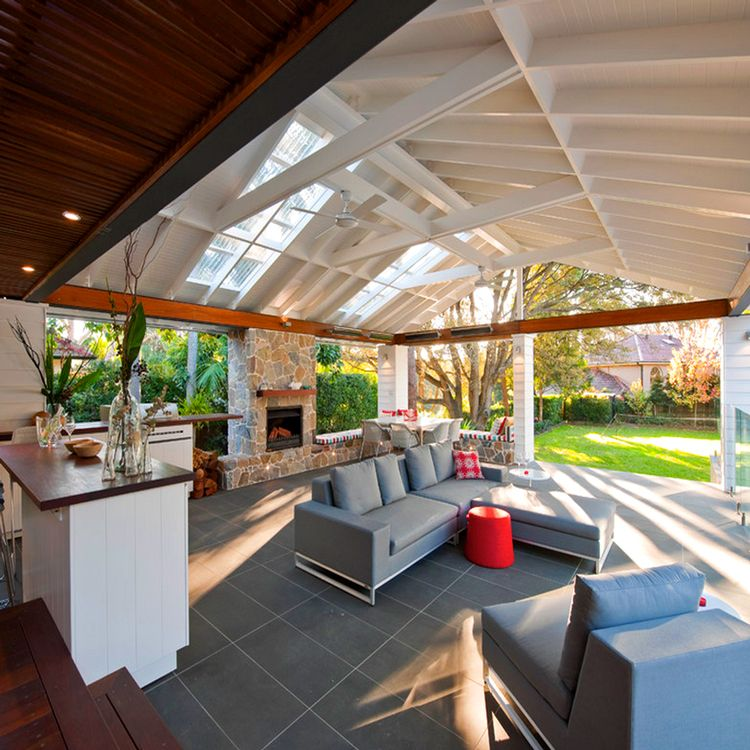 This backyard outdoor pavilion (from a home in Australia
