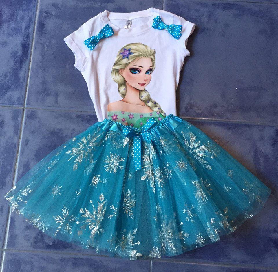 Conjunto Vestido Niña Frozen Elsa Tutu Juego Disfraz