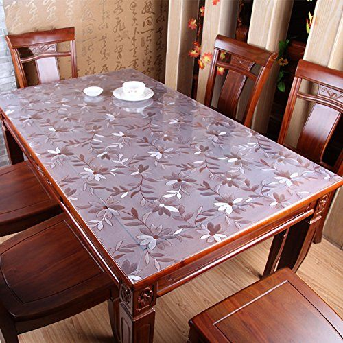 Pvc Waterproof Table Cloth Soft Glass Transparent Table Cloth