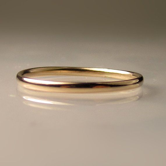 Thin Women's Gold Wedding Band 1.5mm recycled 14k by JanishJewels, $112.00
