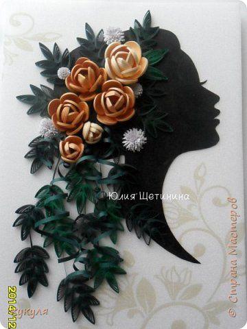 Картина панно рисунок Квиллинг Розы Бумага Бумажные полосы фото 1