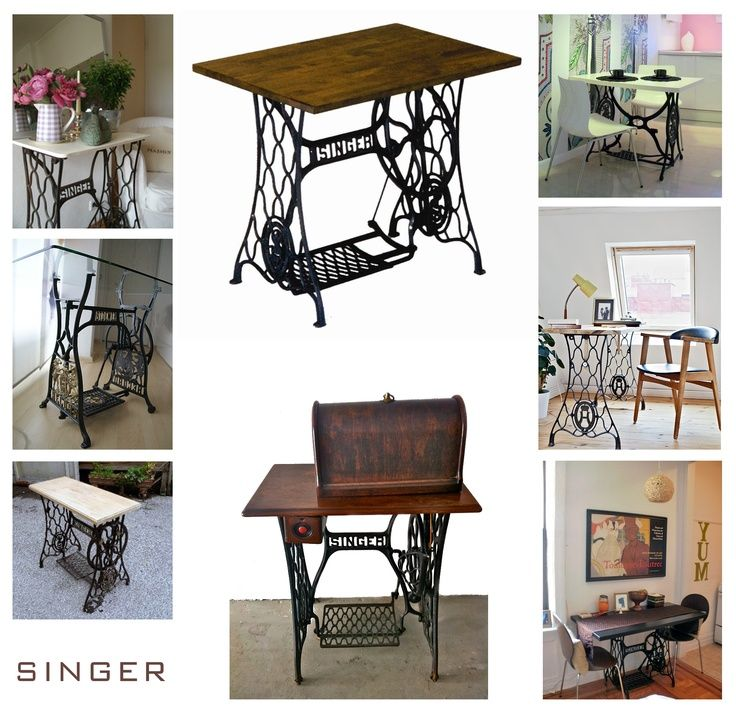 redo old sewing machine table for the home pinterest. Black Bedroom Furniture Sets. Home Design Ideas