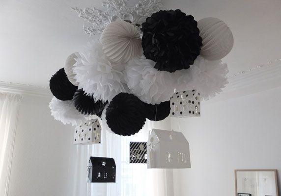 Feest Styling Oud En Nieuw Feest Decoratie Met Honeycombs Stijlvol Styling Woonblog Lampions Blume Mobil Pompoms