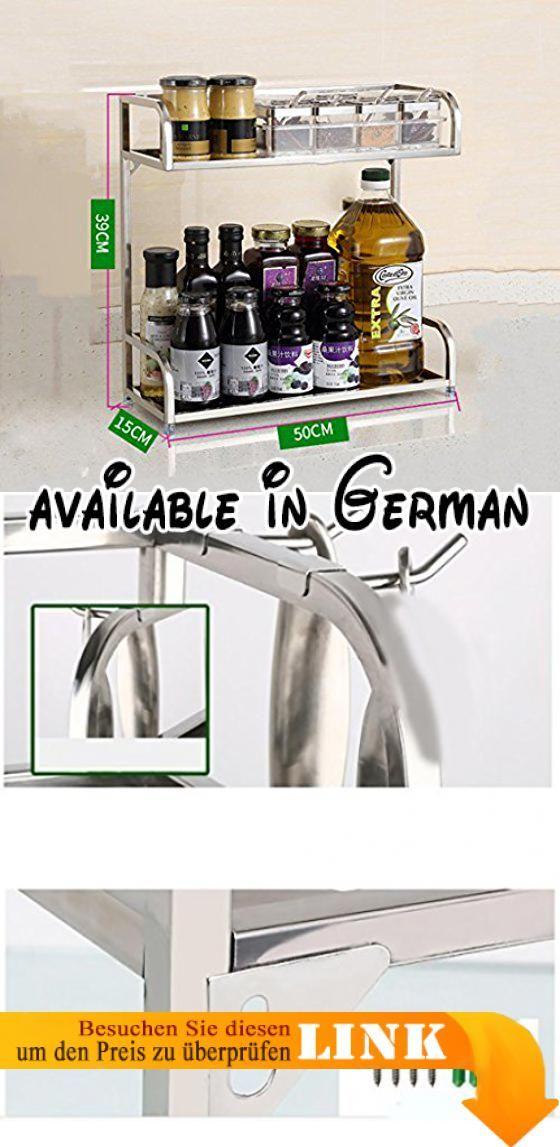 B078TZVT7C : Gewürzregal Küche Regal Edelstahl Regalboden Lagerung ...