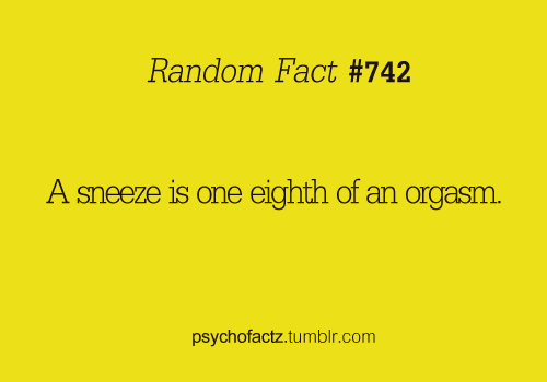 I could really go for 8 sneezes right about now.