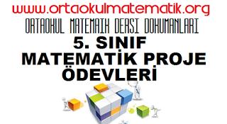5 Sinif Matematik Proje ödevleri 5 Sınıf Matematik Grade 5