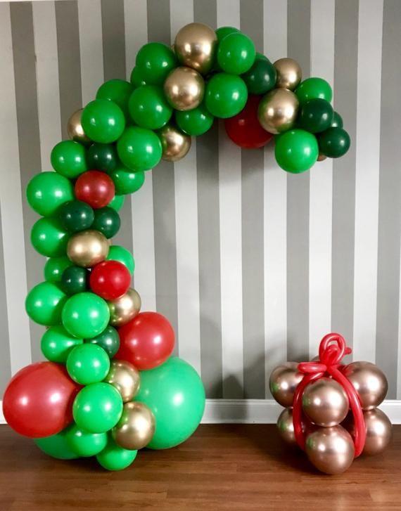Balloon Garland Kit,Christmas is coming, Christmas Balloon Garland, Green and Red Balloon arch #balloonarch