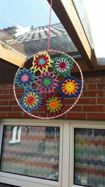 My world of crochet: The 2nd Dekoaufhänger is ready ...