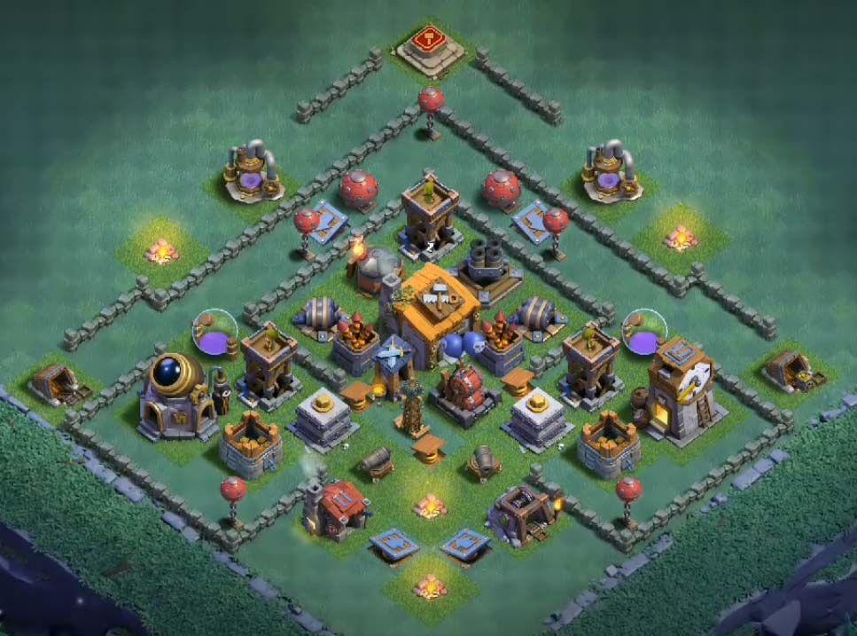 12 Best Builder Hall 6 Base Links Anti 1 Stars 4000 Builder Base Clash Of Clans App