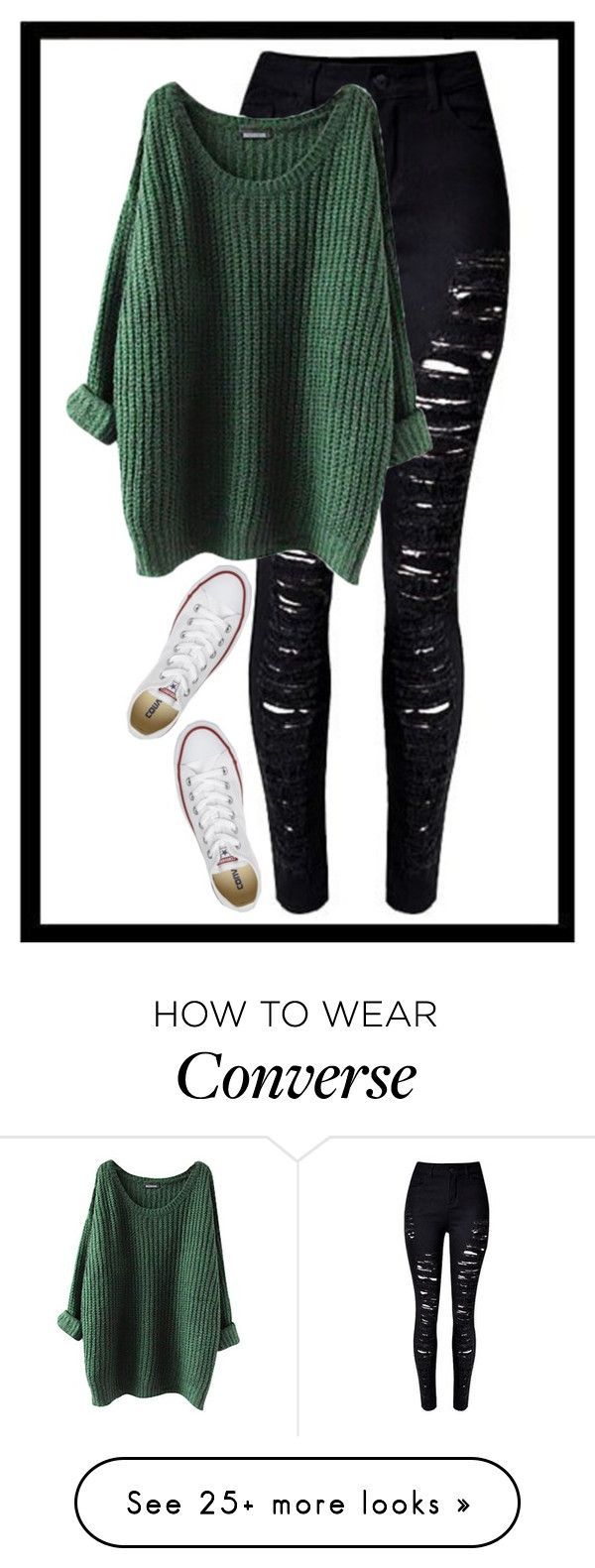 """Geen titel #377"" by x-essie-x on Polyvore featuring Converse"
