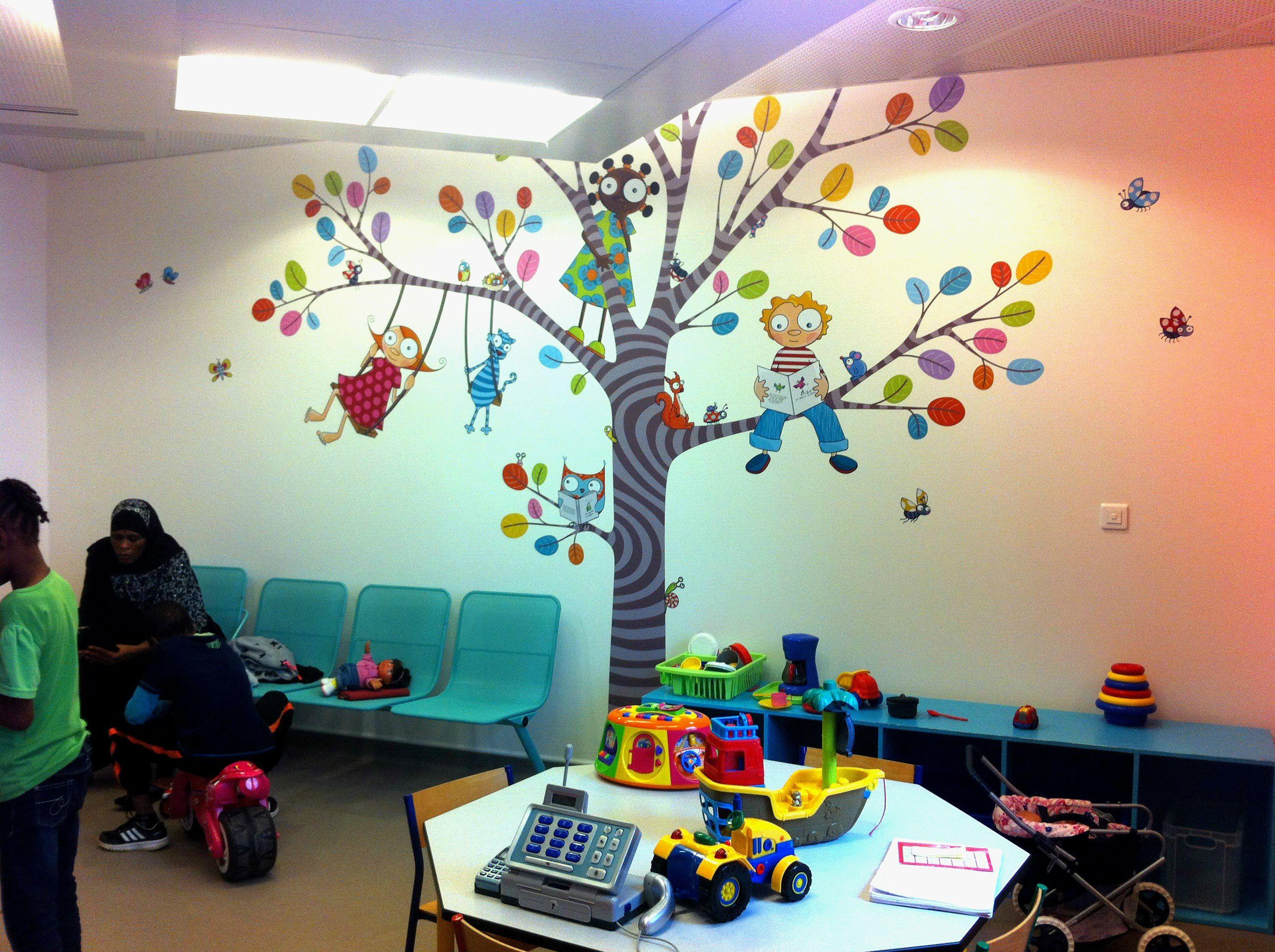 Décor Salle De Jeux salle d'attente - consultations pédiatriques, hôpital de
