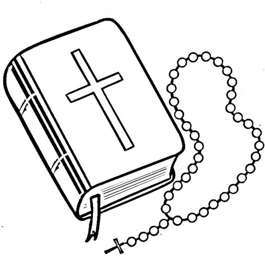 Rosary Beads Coloring Page