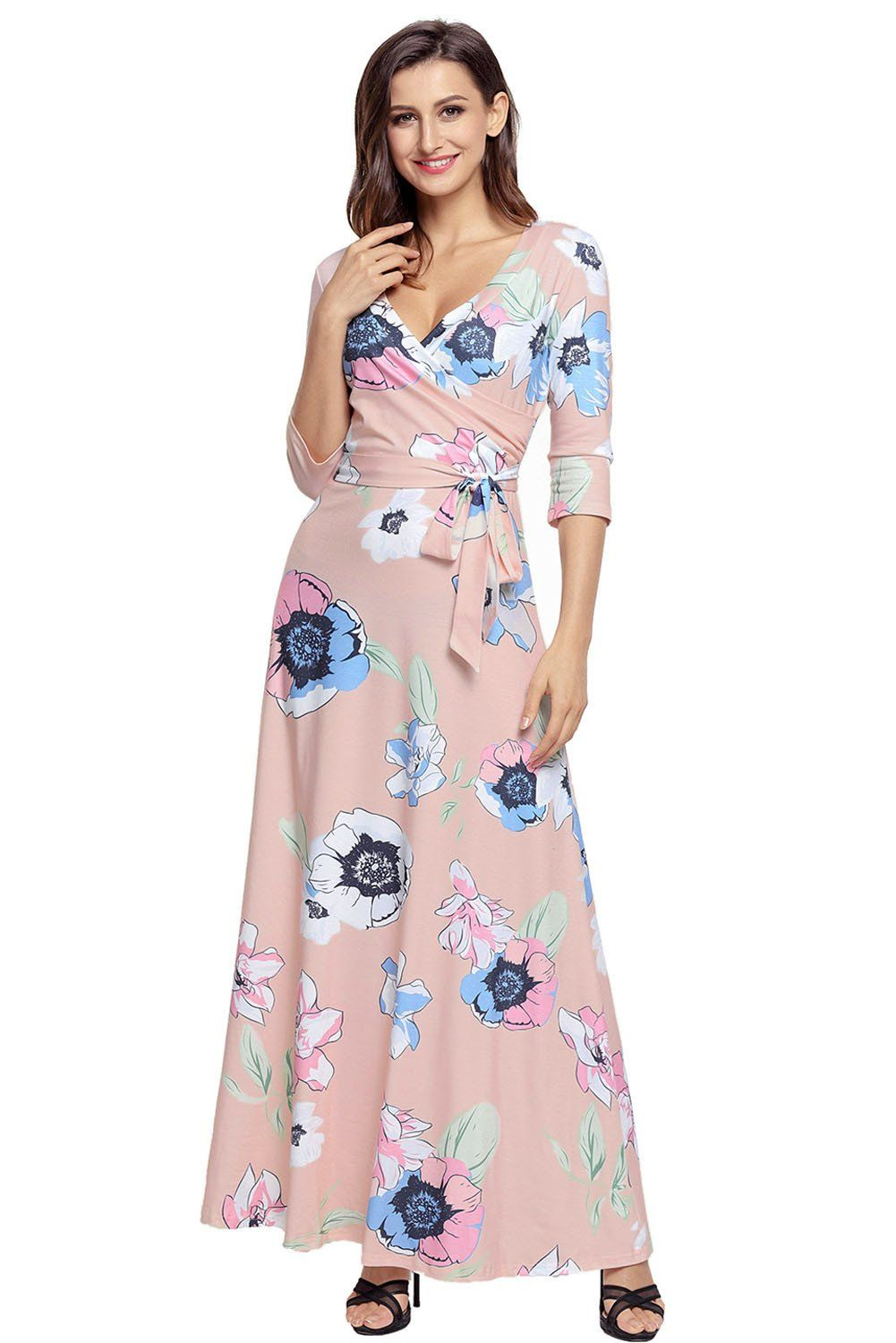 63f21f92dd The Floral Print Wrapped Long Boho Dress is beauty in motion. An amazing  stunning dress that is perfect anytime day or night!