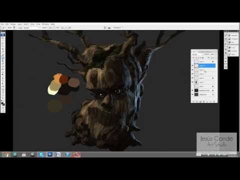 How to paint_ TREE BRANCHES _ TUTORIAL - YouTube