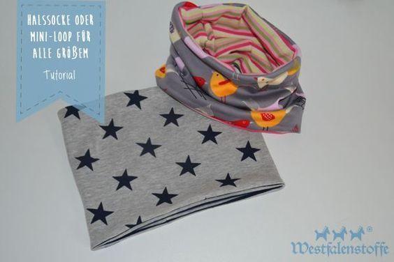 Halssocke oder Mini-Loop für alle Größen – Westfalenstoffe-Blog ,  #alle #babysockensitricken…