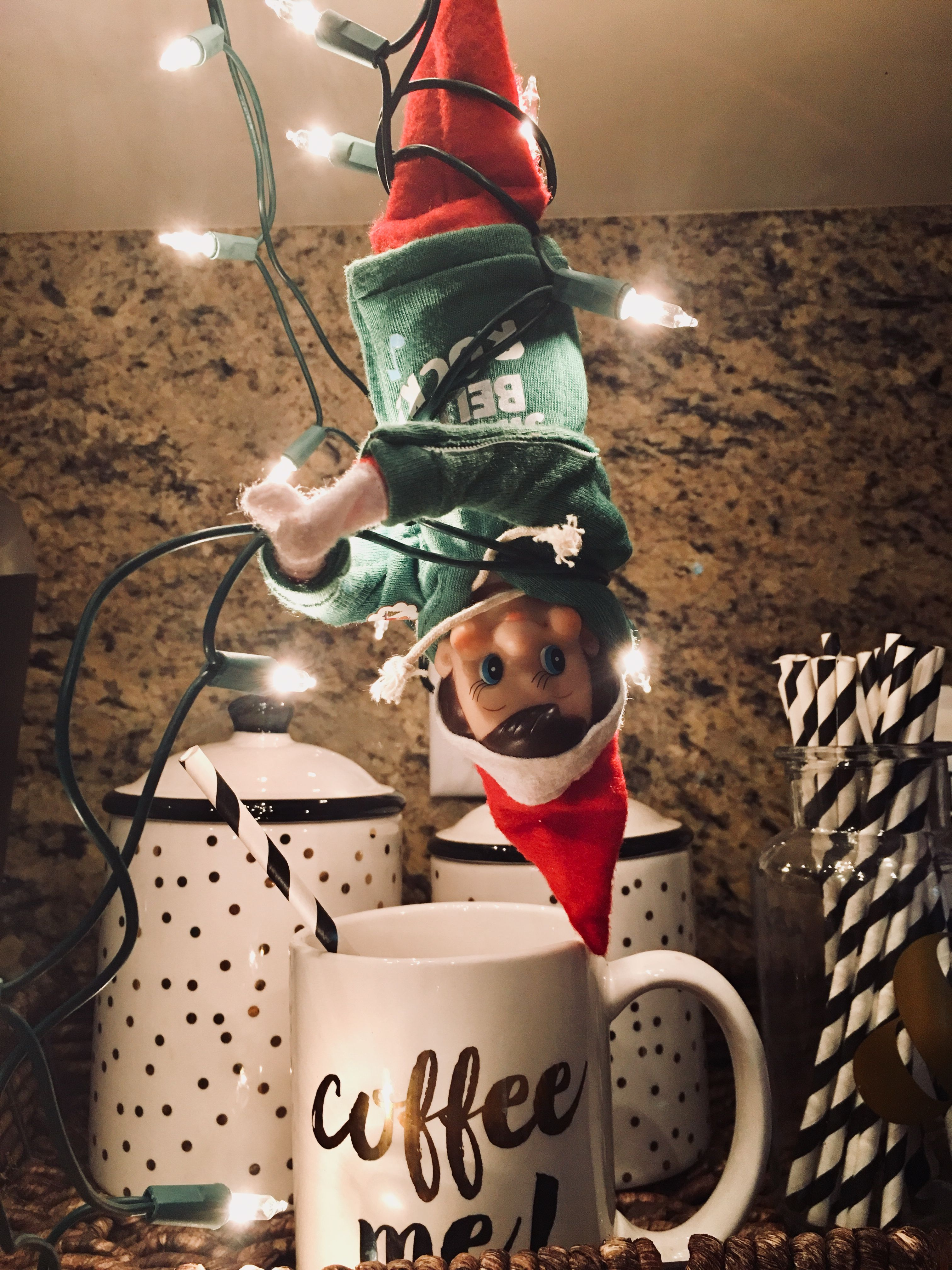 Coffeeor the elf gets it holiday decor elf the elf