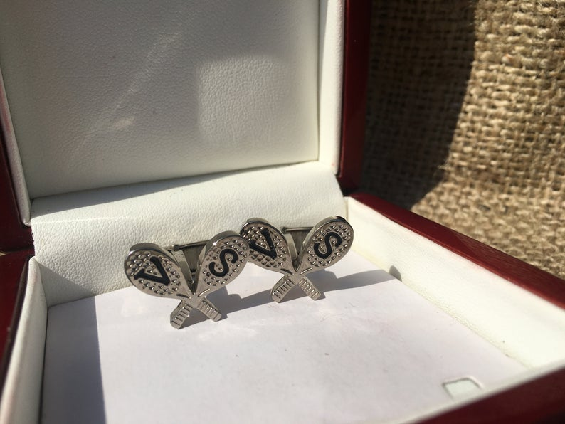 Gift Gifts for Him Sterling Silver Cufflinks Tennis Racket Cufflinks,Tennis Cufflinks Birthday Gift for Men Anniversary Wedding Gift