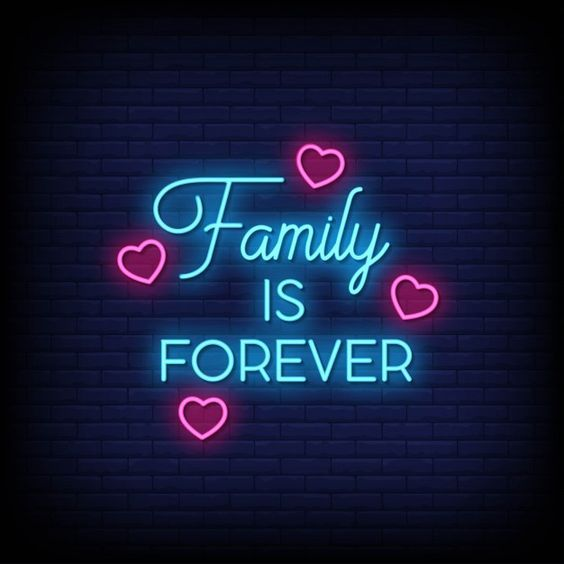 Family Is Forever LED Neon Sign