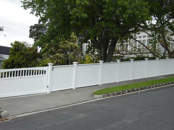 Tongue and groove painted fence Fence ideas Pinterest Painted