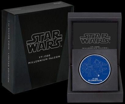 Niue 2017 Star Wars Raumschiff Der Millennium Falke Münzen